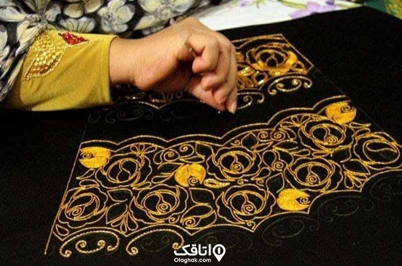 گلابتون دوزی، صنایع دستی کیش